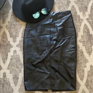 Lulu's Faux Leather Pencil Skirt